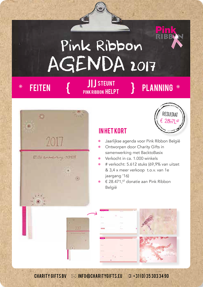 Pink Ribbon België Agenda 2017